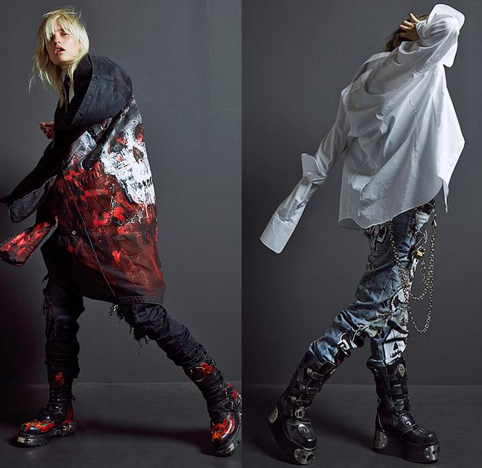 faith-connexion-2016-resort-cruise-womens-fashion-looks-graffiti-paint-grunge-tux-cargo-camo-sequins-tutu-denim-jeans-observer-05x
