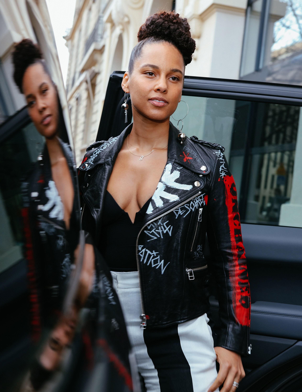Alicia Keys custom jacket Pisco Logik Piscologik style fashion faith connexion