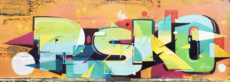 Strasbourg street art graffiti pisco Piscologik