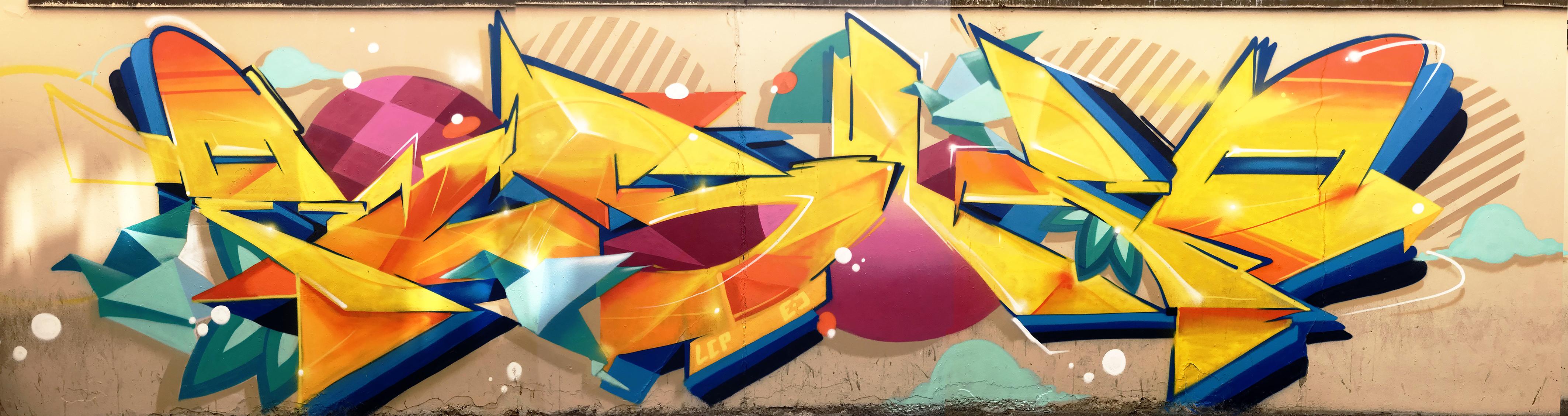 graffiti street art streetart colors Strasbourg Pisco pisko piscologik fresque Fnac